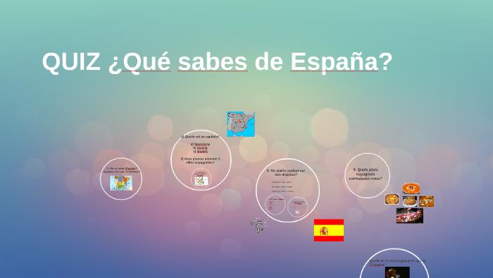 Quiz généraliste sur l'Espagne